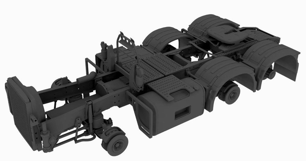 6×2/4 pusher chassis for Swedish truck