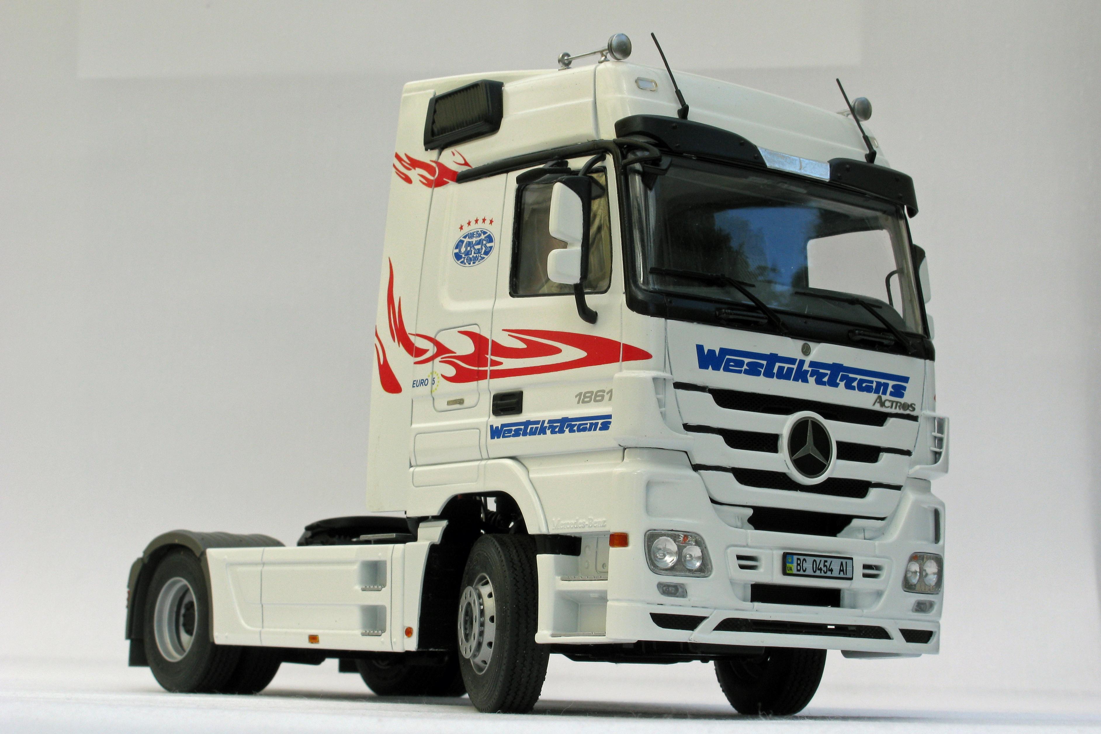 mercedes actros mp3 by ron johnson uk a n model trucks. Black Bedroom Furniture Sets. Home Design Ideas