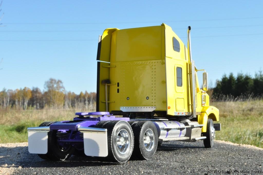 "Modern American Conventional truck (58\"" raised roof sleeper, set back axle). A&N Model Trucks. Andrey Myakotkin"