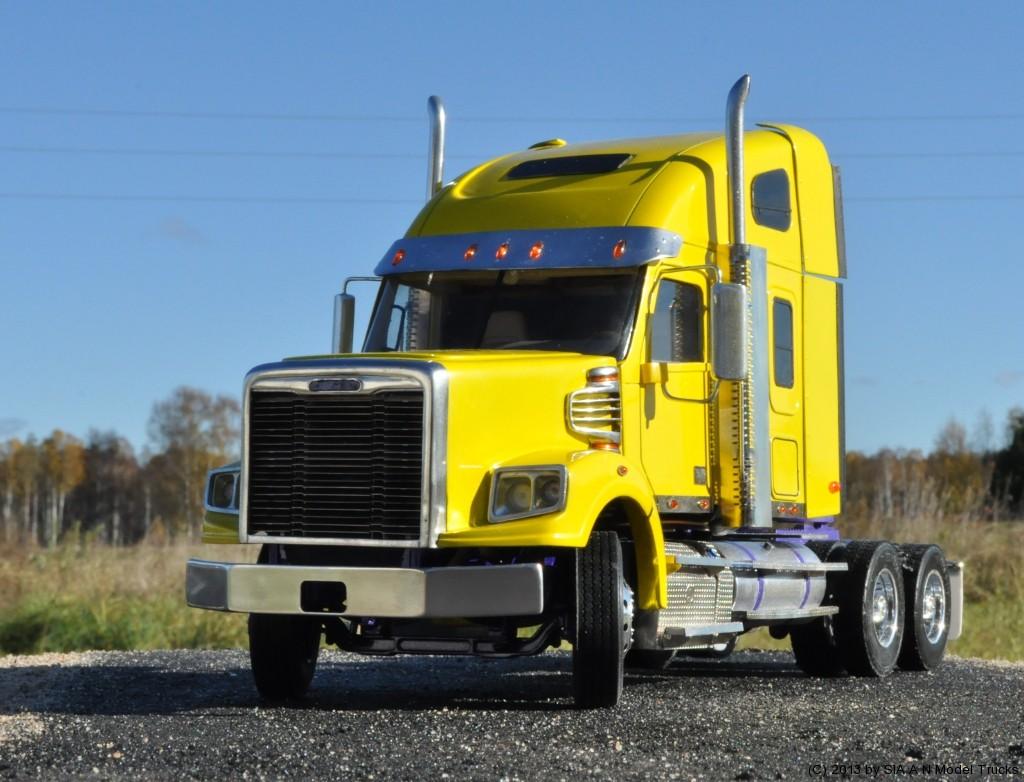 "Modern American Conventional truck (58"" raised roof sleeper, set back axle). A&N Model Trucks. Andrey Myakotkin"