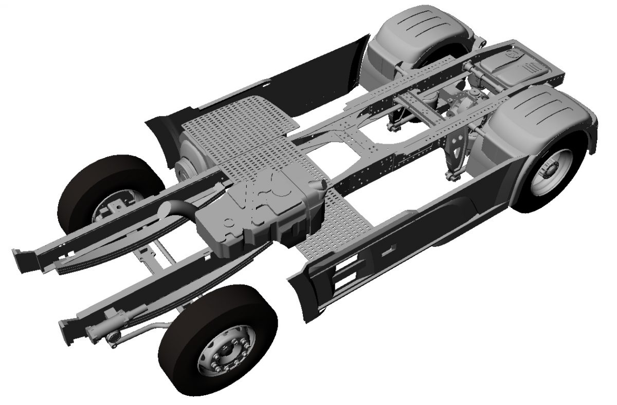 Chassis for Dutch truck (Euro 6)