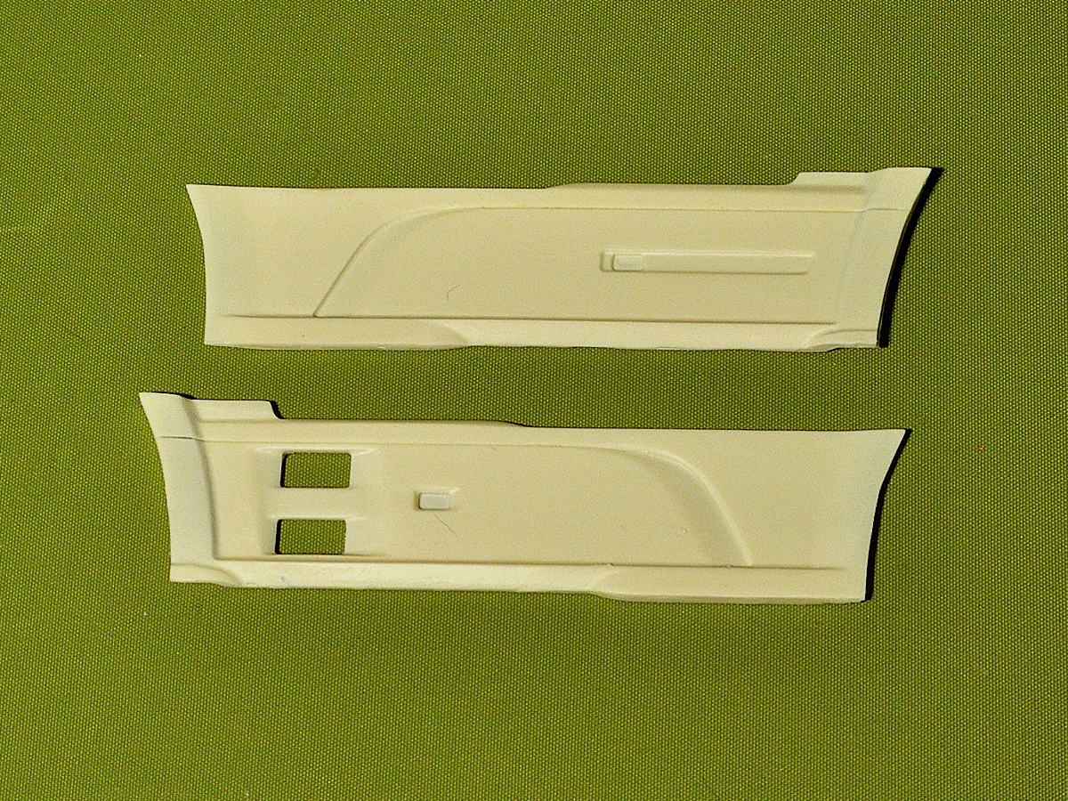 Dutch truck Euro 6 side skirts (Italeri chassis). Conversion kit
