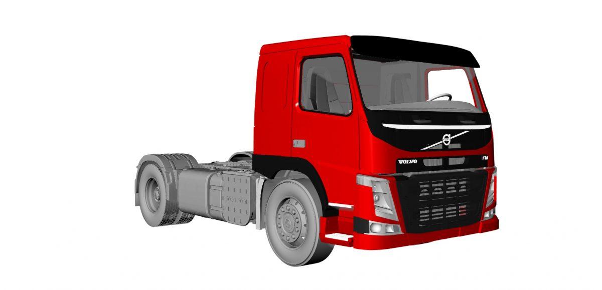 Highway truck (flat roof)