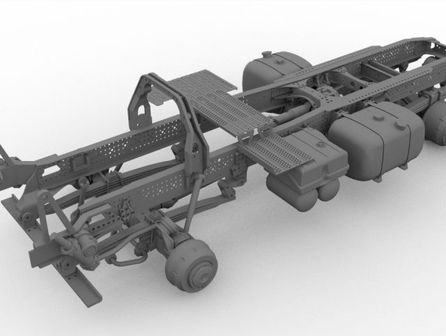 Chassis for German construction truck