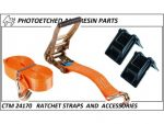 CTM 24170/A Ratchet straps (ORANGE)