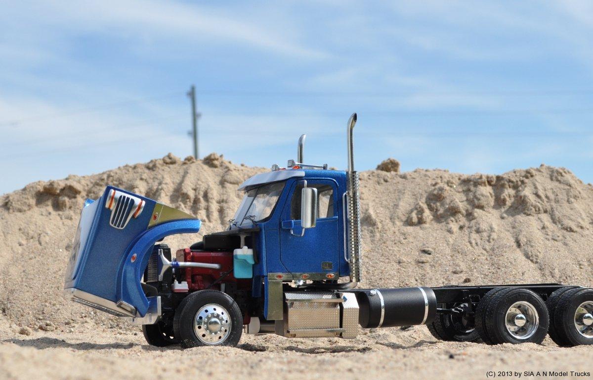 Modern American Conventional truck (day cab, set back axle). A&N Model Trucks. Andrey Myakotkin
