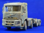 8x4 tandem chassis for Swedish construction truck. Scale 1/24